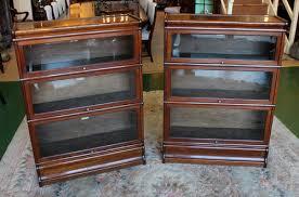 Oak Bookcases With Glass Doors Glass Door Bookcase Antique Stylish Bookshelf With Doors Furniture