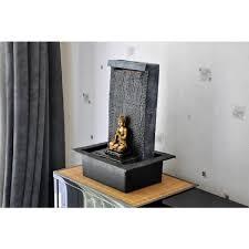 deco chambre zen bouddha fontaine mur d u0027eau bouddha zenitude multicolore achat vente