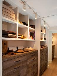 bedroom wardrobe track lighting spot light clothes brown wooden