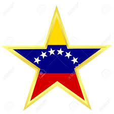 Flag Venezuela Gold Star With A Flag Of Venezuela Royalty Free Cliparts Vectors