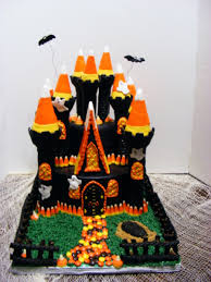 Halloween Round Cake Ideas by Halloween Candy Corn Castle Cake Cakecentral Com