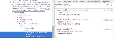 Text Decoration Html Html Cannot Change Text Colour Of Currently Active Menu Item In
