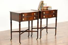 Traditional Nightstands Sold Pair Of Traditional Sheraton Style Mahogany Vintage End