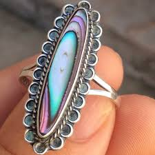 long rings jewelry images Vintage jewelry sterling silver abalone ring long mexico poshmark jpg