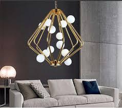 Home Chandelier Golden Iron Chandelier Lighting For Home Beonelighting