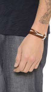 wrap bracelet with anchor images Lyst miansai modern anchor wrap bracelet in brown for men jpeg