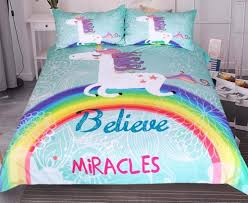 Free Bed Sets Buy Unicorn Believe Bedding Set Free Shipping 2 Matching Covers