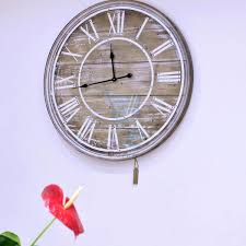 wall clocks large white painted wrought iron shabby chic wall