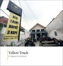 Yellow Truck Coffee yellow truck bandung cikopi