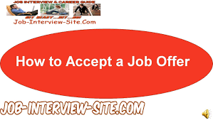 how to accept a job offer youtube