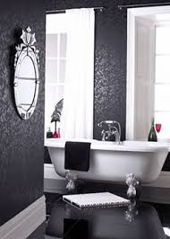 bathroom with wallpaper ideas modern interior decorating black plus another color combination