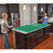 dining room table tennis set the kitchen table tennis hammacher schlemmer ping pong table