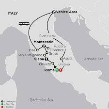 Italy Map Cities Italy Tours Cosmos Affordable Tour Packages