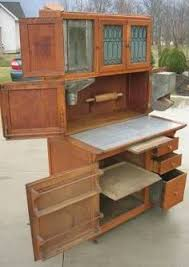 Antique Kitchen Cabinet With Flour Bin Bakers Cabinet With Flour Bin Oak Hoosier Style Bakers