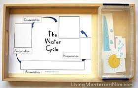 free water cycle printables and montessori inspired water cycle