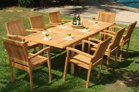 Teak Outdoor Dining Table And Chairs Wholesaleteak 9 Grade A Teak Outdoor Dining Set With 94