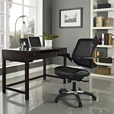 office lavish black leathered chair with back rest and single