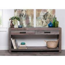 Reclaimed Wood Console Table Coaster 2 Drawer Console Table In Reclaimed Wood Ebay