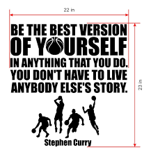 amazon com stephen curry quote wall decals basketball wall decals amazon com stephen curry quote wall decals basketball wall decals sports nba