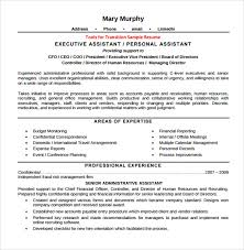 C Level Executive Resume Samples by Sample Executive Assistant Resume 6 Examples Format
