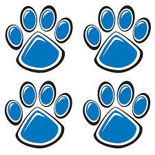 blue paw print temporary tattoos spiritline