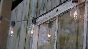 Edison Lights String by Edison Bulb String Lights Window Stock Footage Video 24442394