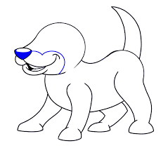 how to draw a cartoon dog easy drawing guides