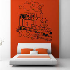 children thomas tank engine train wall art sticker decal kids play children thomas tank engine train wall art sticker decal kids play room wall decals 5 sizes in wall stickers from home garden on aliexpress com alibaba