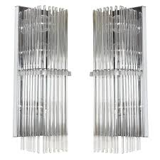 Lightolier Wall Sconce Pair Of Crystal Rod Sconces By Lightolier For Sale At 1stdibs