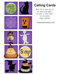 Halloween Bingo Free Printable Cards by Halloween Bingo Pink Polka Dot Creations