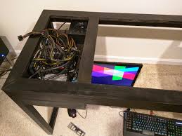 Diy Pc Desk Diy Technology And Other Random Stuff Diy Built In Dual Pc