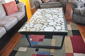 final wood under glass custom metal coffee table modern legs