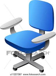 bureau clipart clip of furniture office chair seating furniture chair