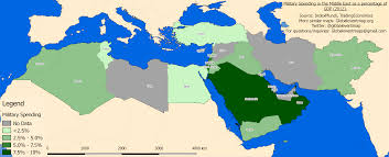 World Map Of Middle East by Map Of The Military Spending By Gdp Of Countries In The Middle
