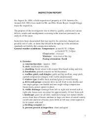 Field Inspection Report Template by Atlanta Sle Home Inspection Report