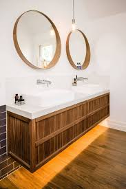 bathrooms design wood framed bathroom mirrors pivot bathroom