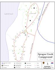 Map Of Glacier National Park Sprague Creek Campground Map Glacier U0026 Yellowstone National Park