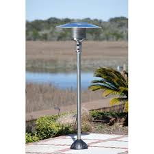 fire sense stainless steel patio heater with adjustable table fire sense stainless steel 45 000 btu natural gas patio heater