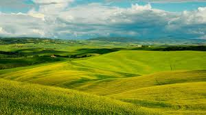 landscapes clouds italy tuscany hills fields scenery sky nature