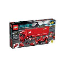 ferrari lego truck lego speed champions f14 t u0026 scuderia ferrari truck 75913 intertoys
