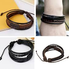 leather wrist bracelet images Online shop redive jewelry bracelet fashion hand woven leather jpg