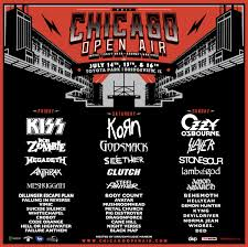 Riot Fest Map Chicago by Preview Chicago Open Air 2017 Ozzy Osbourne Kiss More Toyota Park