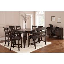 steve silver 6 piece victoria dining table set with bench mango
