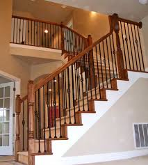 Metal Landing Banister And Railing Hemlock Staircase With Custom Turned Newel Posts Http Www