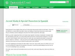 accent marks u0026 special characters in spanish 6th 12th grade