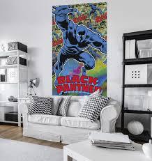 av4 008 marvel comics black panther mural tapeto av4 008 marvel comics black panther mural bild 2