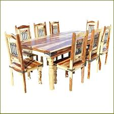 rustic solid wood dining table solid wood dining room chairs stylish dining table and chair set