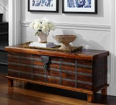 Reclaimed Wood Console Table Pottery Barn Franco Reclaimed Wood Trunk Pottery Barn