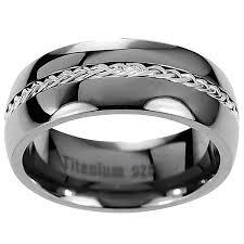 titanium band men s titanium braided inlay wedding band free shipping on