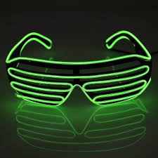 party sunglasses with lights el wire flashing sunglasses party light up glasses for rave party in